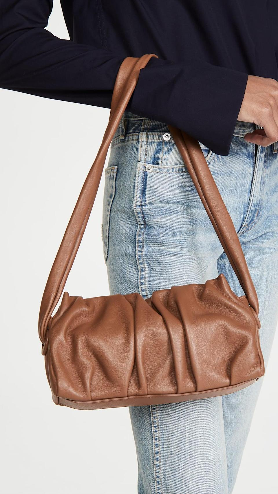 <p>This cool <span>Elleme Vague Lambskin Bag</span> ($415) is soft and easy to carry.</p>