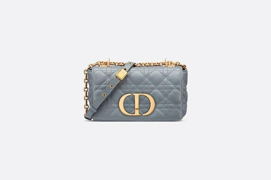 """<p><strong>Dior</strong></p><p>dior.com</p><p><strong>$4600.00</strong></p><p><a href=""""https://go.redirectingat.com?id=74968X1596630&url=https%3A%2F%2Fwww.dior.com%2Fen_us%2Fproducts%2Fcouture-M9241UWHC_M81B-small-dior-caro-bag-cloud-blue-soft-cannage-calfskin&sref=https%3A%2F%2Fwww.harpersbazaar.com%2Ffashion%2Fg34046218%2Fspring-2021-bag-trends%2F"""" rel=""""nofollow noopener"""" target=""""_blank"""" data-ylk=""""slk:Shop Now"""" class=""""link rapid-noclick-resp"""">Shop Now</a></p><p>Calling all the ladylike ladies.</p>"""