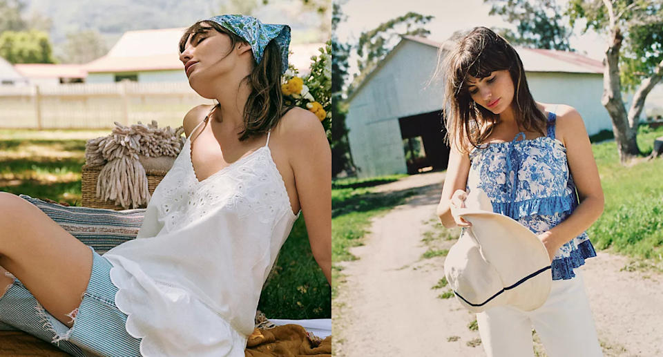 Save an extra 40% on all sale styles this weekend at Anthropologie. Images via Anthropologie.
