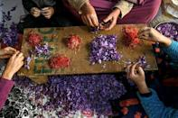 In Kashmir, dry conditions blamed on climate change have seen yields of saffron halved in the last two decades