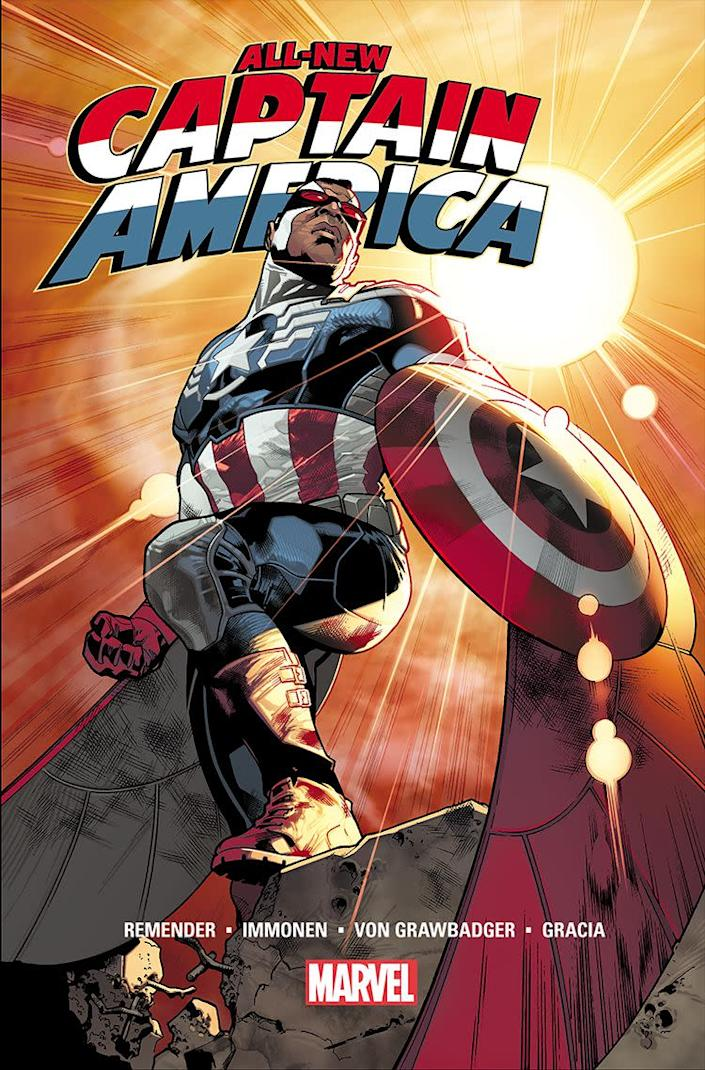 Sam Wilson as Captain America, Formerly Falcon