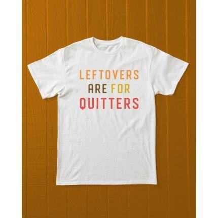 """<p><strong></strong></p><p>Country Living (that's us!)</p><p><strong>$25.00</strong></p><p><a href=""""https://shop.countryliving.com/leftovers-are-for-quitters-t-shirt.html"""" target=""""_blank"""">Shop Now</a></p><p>It's that time of year when big family meals are king. Celebrate feeling stuffed with our <em>Country Living</em> custom T-shirt. It'll stretch over full bellies, we promise!</p>"""