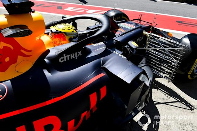 "Max Verstappen, Red Bull Racing RB15 con sensores <span class=""copyright"">Mark Sutton / Motorsport Images</span>"