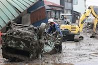 Two people have been confirmed dead after the disaster at the hot-spring resort of Atami