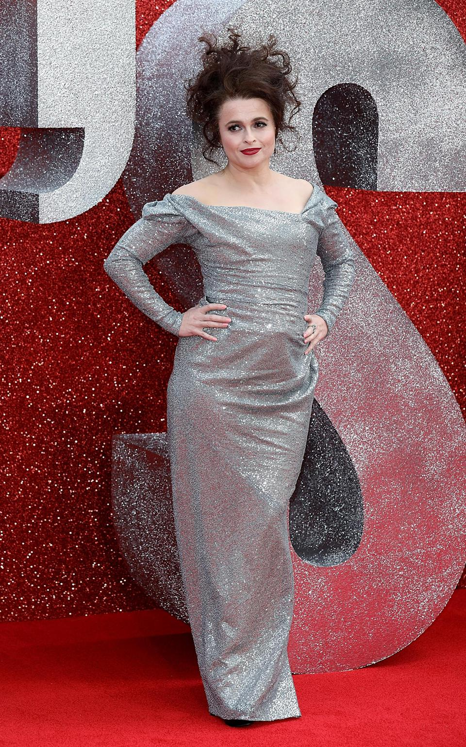 <p>Sticking to her red carpet staple, Vivienne Westwood, Helena worked her go-to hairdo for the film's premiere. <em>[Photo: Getty]</em> </p>
