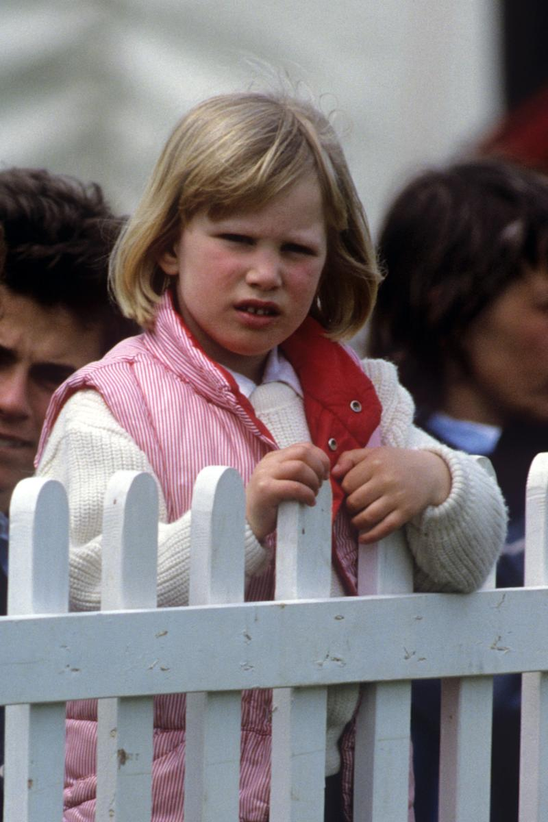 A five-year-old Zara Phillips at the Windsor Horse Trials in 1986 (Getty Images)