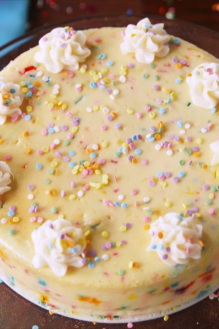 """<p>Funfetti fans, we've got the cheesecake for you.</p><p>Get the recipe from <a href=""""https://www.delish.com/cooking/recipe-ideas/recipes/a54419/funfetti-cheesecake-recipe/"""" rel=""""nofollow noopener"""" target=""""_blank"""" data-ylk=""""slk:Delish"""" class=""""link rapid-noclick-resp"""">Delish</a>.</p>"""