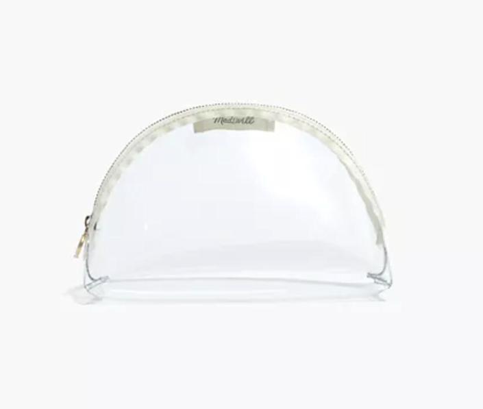 madewell clear plastic pouch