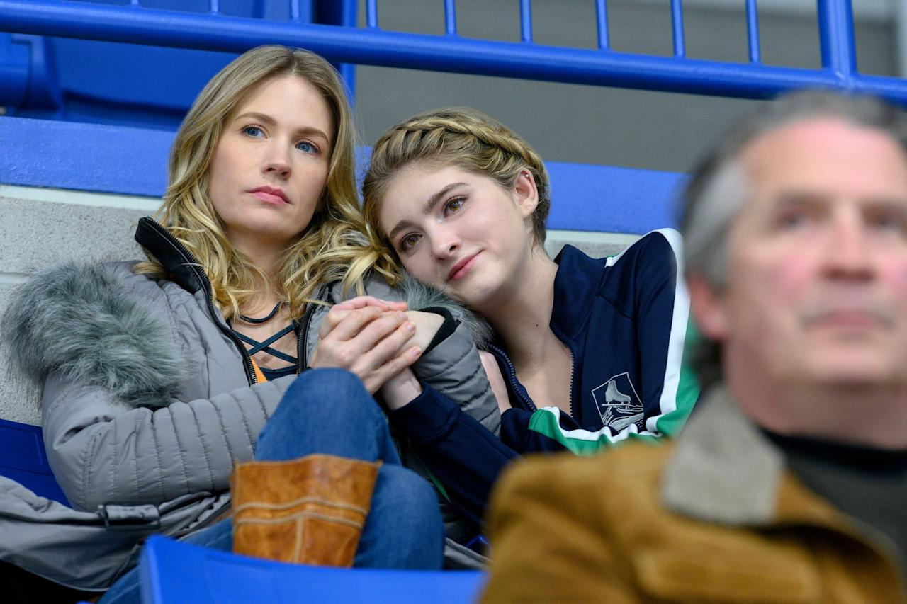 <p>Any real-life sports fans will know that there have been a series of abuse scandals rocking several sports, most famously in USA women's gymnastics. <strong>Spinning Out</strong> tackles those real-life events head-on, with a storyline in which Kat suspects her teenage sister, Serena, is being taken advantage of by an adult man. Be prepared for discussions about these issues.</p> <p><em>Spoilers: There is a psychologically horrifying, emotionally intense fallout from these suspicions that includes a brief depiction of nonsexual violence.</em></p>