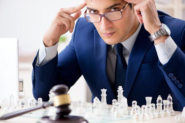 "<span class=""caption"">Legal battles require the same skills seen at the highest levels of chess.</span> <span class=""attribution""><a class=""link rapid-noclick-resp"" href=""https://www.shutterstock.com/image-photo/young-lawyer-playing-chess-train-his-1196627311"" rel=""nofollow noopener"" target=""_blank"" data-ylk=""slk:Elnur/Shutterstock.com"">Elnur/Shutterstock.com</a></span>"