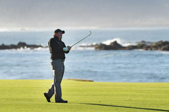 """<h1 class=""""title"""">AT&amp;T Pebble Beach Pro-Am - Final Round</h1> <div class=""""caption""""> (Photo by Harry How/Getty Images) </div> <cite class=""""credit"""">Harry How</cite>"""