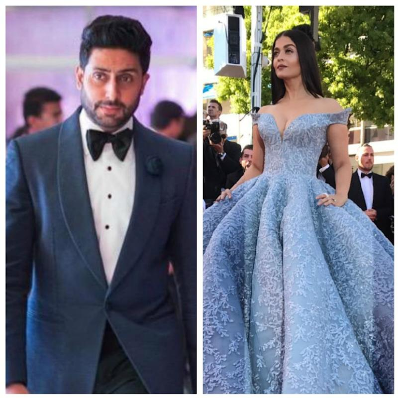 bd98a3311b0 Cannes 2017  Abhishek Bachchan is drooling over Aishwarya s Cannes pictures