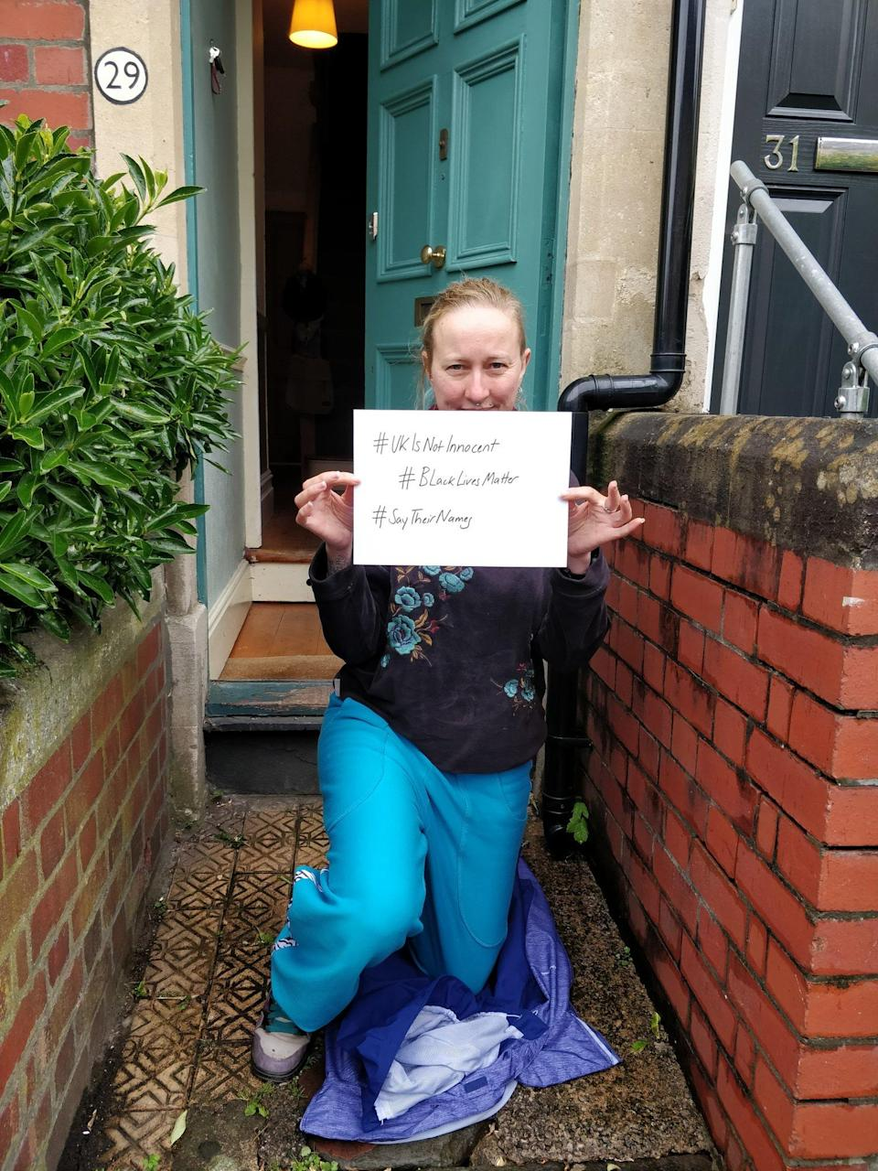 Johanna joined the tributes on her doorstep in Bristol (PA)