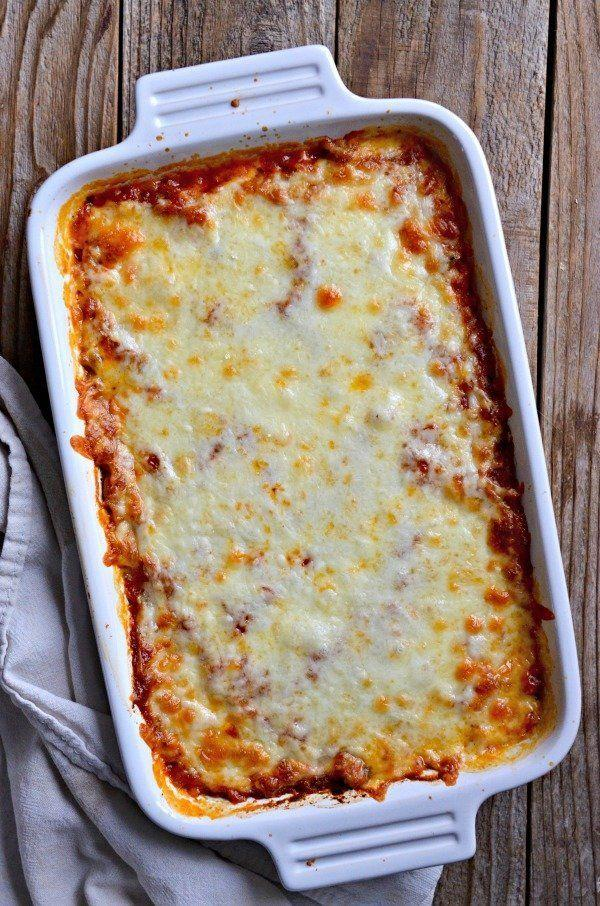 """<strong>Get the <a href=""""http://www.mountainmamacooks.com/2017/03/baked-spaghetti-squash-puttanesca/"""" target=""""_blank"""">Baked Spaghetti Squash Puttanesca recipe</a>fromMountain Mama Cooks</strong>"""