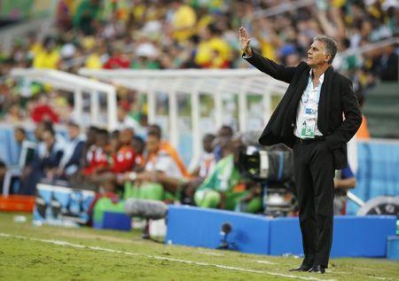 Football - Iran v Nigeria - FIFA World Cup Brazil 2014 - Group F - Arena da Baixada, Curitiba, Brazil - 16/6/14 Iran coach Carlos Queiroz Mandatory Credit: Action Images / John Sibley Livepic EDITORIAL USE ONLY.