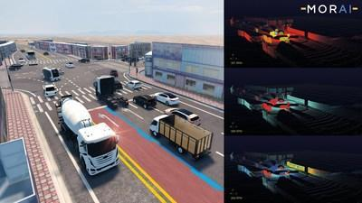 MORAI's autonomous vehicle simulation reconstructs complex scenarios in a 3D environment – allowing engineers to test their systems before deployment