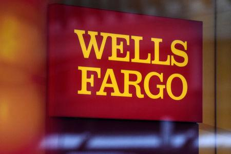 FILE PHOTO - A Wells Fargo logo is seen in New York City