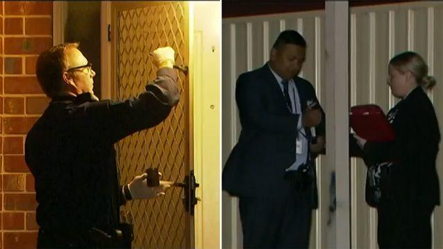 The man forced his way inside the home where the man was stabbed. Source: 7 News