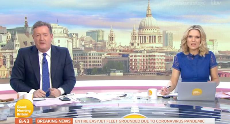 Piers Morgan and Charlotte Hawkins on Good Morning Britain (Photo: ITV)