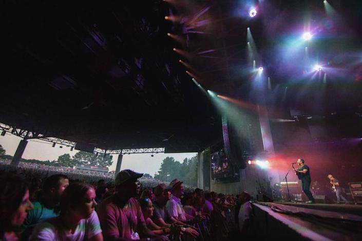 Dave Matthews performs to a sea of fans at PNC Music Pavilion.