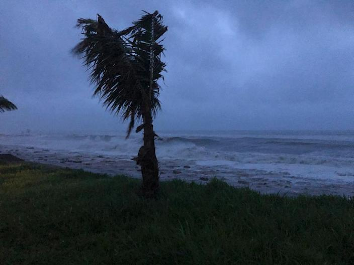 Cyclone Kenneth made landfall in Mozambique's Cabo Delgado province after swiping the Comoros islands (AFP Photo/STRINGER)