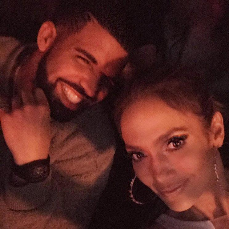 Drake joined the growing list of stars to check out J Lo's Vegas show.