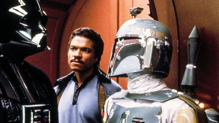 Billy Dee Williams as Lando with Darth Vader, Boba Fett