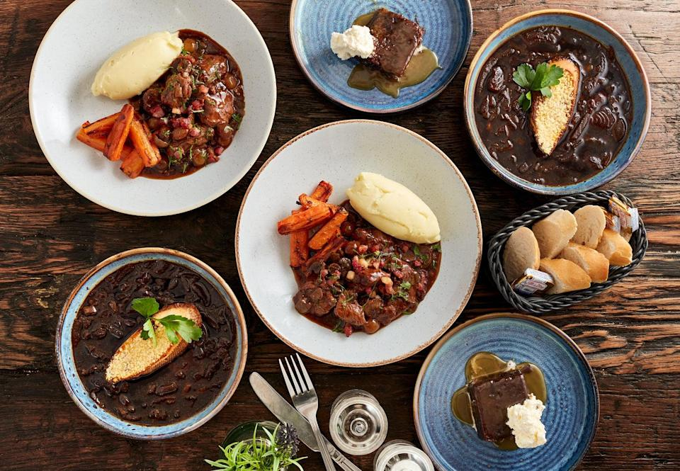 The 'Classic' box comes with French onion soup, beef bourguignon and a (not very French) sticky toffee pudding (Bistrot at Home)