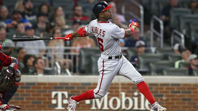 Victor Robles' two-run homer tied up the ballgame at three-apiece down in Atlanta, but Josh Donaldson put it to bed with a walk-off to seal the game.