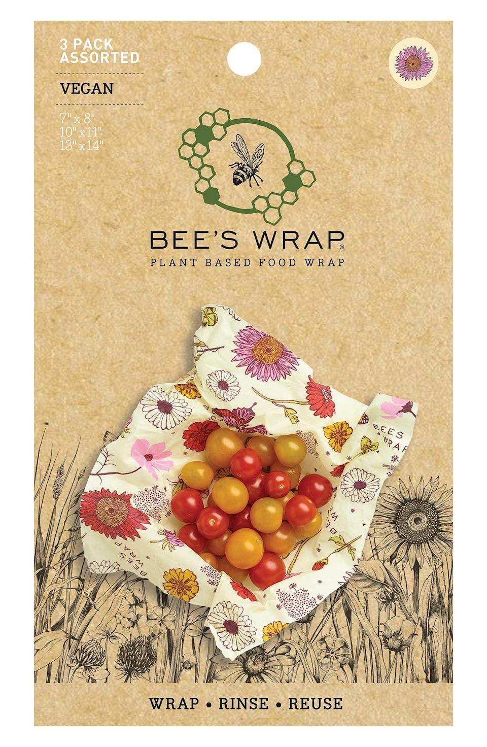 """<p><strong>Bee's Wrap</strong></p><p>nordstrom.com</p><p><strong>$19.00</strong></p><p><a href=""""https://go.redirectingat.com?id=74968X1596630&url=https%3A%2F%2Fwww.nordstrom.com%2Fs%2Fbees-wrap-assorted-3-pack-reusable-vegan-food-wraps%2F5785184&sref=https%3A%2F%2Fwww.seventeen.com%2Flife%2Ffriends-family%2Fg722%2Fbest-holiday-gifts-for-mom%2F"""" rel=""""nofollow noopener"""" target=""""_blank"""" data-ylk=""""slk:Shop Now"""" class=""""link rapid-noclick-resp"""">Shop Now</a></p><p>Skip the saran wrap and tinfoil. Save those holiday leftovers in this (really cute) reusable beeswax wrap. </p>"""