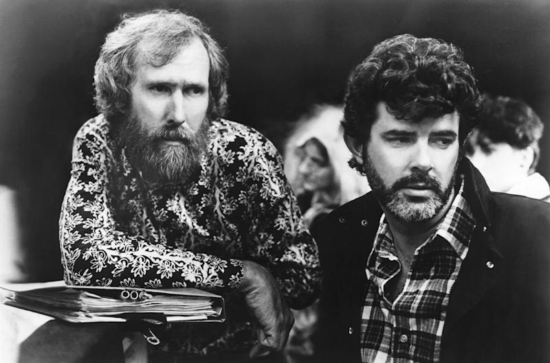 Jim Henson and George Lucas on the set of 'Labyrinth' (Photo: ©TriStar Pictures/Courtesy Everett Collection)