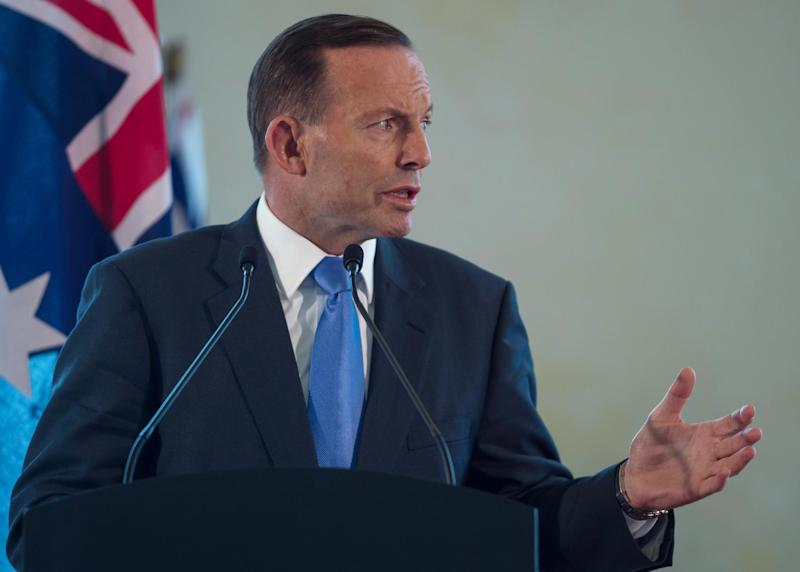 "Australian Prime Minister Tony Abbott, pictured, vowed to ""shirtfront"", or confront, Russian President Vladimir Putin at the G20 summit next month over the loss of Australian lives in the MH17 crash over Ukraine"