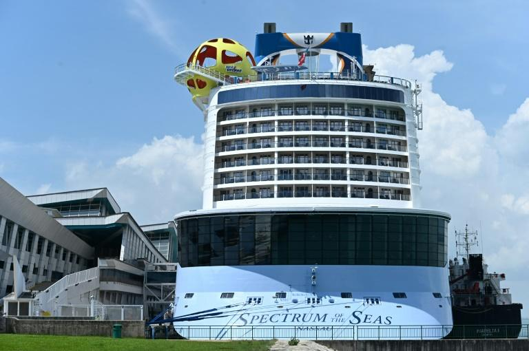 "El ""Spectrum of the Seas"", del grupo Royal Caribbean, el 21 de mayo de 2019 en Singapur"
