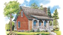 """<p>Here's a tiny home you'll surely fall for. The 808-square-foot Grayson Trail cabin doesn't sacrifice an ounce of comfort. Front and back porches can function as alfresco living rooms. The main bedroom is on the first floor. Upstairs, the loft area can be turn into a bunk room for grandkids.</p> <p>Two bedrooms, one bath</p> <p>808 square feet</p> <p>See plan: <a href=""""https://houseplans.southernliving.com/plans/SL988?index=33&search%5Bbedrooms%5D%5B%5D=2&search%5Bplan%5D=&search%5Bsort%5D=&search%5Butf8%5D=✓"""" rel=""""nofollow noopener"""" target=""""_blank"""" data-ylk=""""slk:Grayson Trail (SL-988)"""" class=""""link rapid-noclick-resp"""">Grayson Trail (SL-988)</a></p>"""