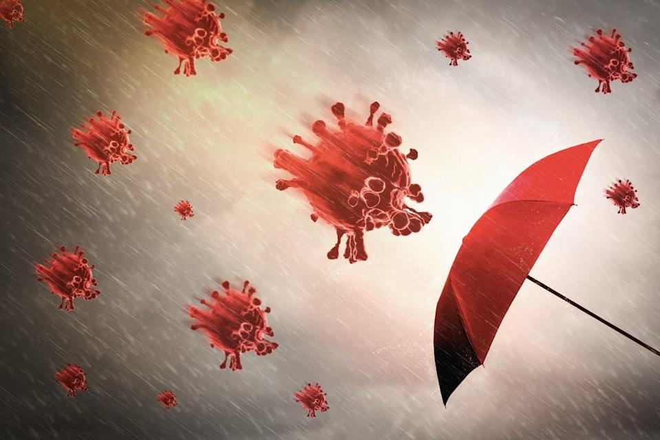 "<span class=""attribution""><a class=""link rapid-noclick-resp"" href=""https://www.shutterstock.com/es/image-illustration/red-umbrella-stormsky-background-rain-black-1751240978"" rel=""nofollow noopener"" target=""_blank"" data-ylk=""slk:Shutterstock / ART STOCK CREATIVE"">Shutterstock / ART STOCK CREATIVE</a></span>"