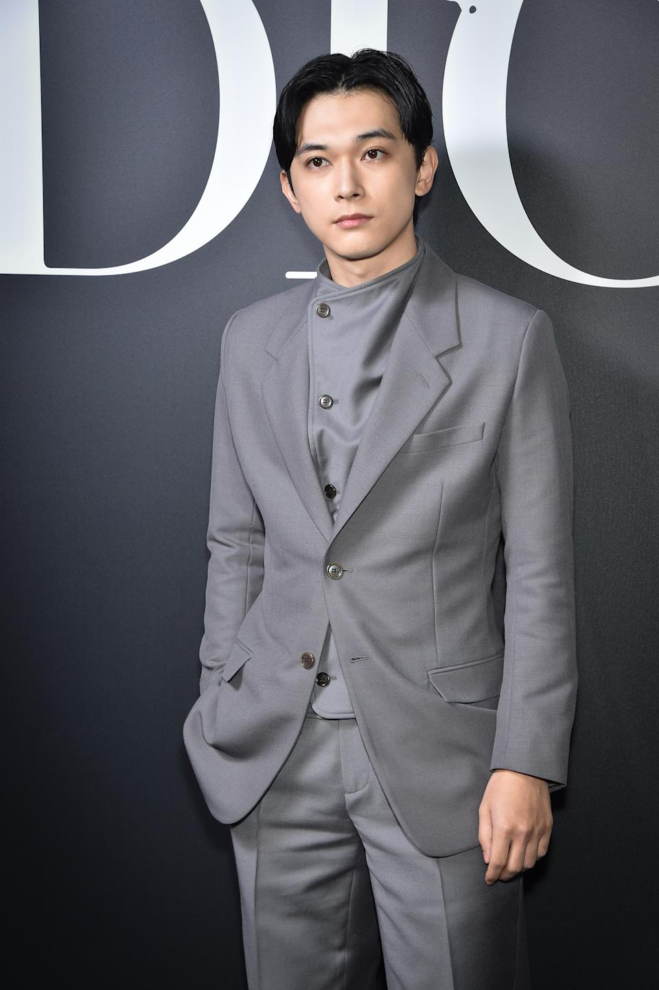 PARIS, FRANCE - JANUARY 17:  Ryo Yoshizawa attends the Dior Homme Menswear Fall/Winter 2020-2021 show as part of Paris Fashion Week on January 17, 2020 in Paris, France. (Photo by Stephane Cardinale - Corbis/Corbis via Getty Images)