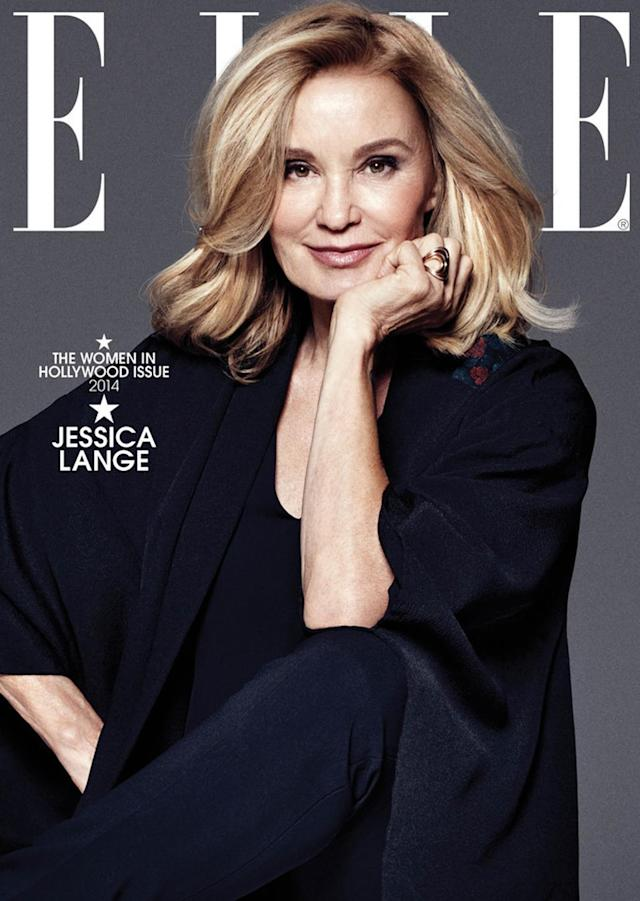 <p>Lange was a cover girl for <em>Elle</em>'s Women in Hollywood issue in November 2014, when she was 65. (Photo: Elle) </p>