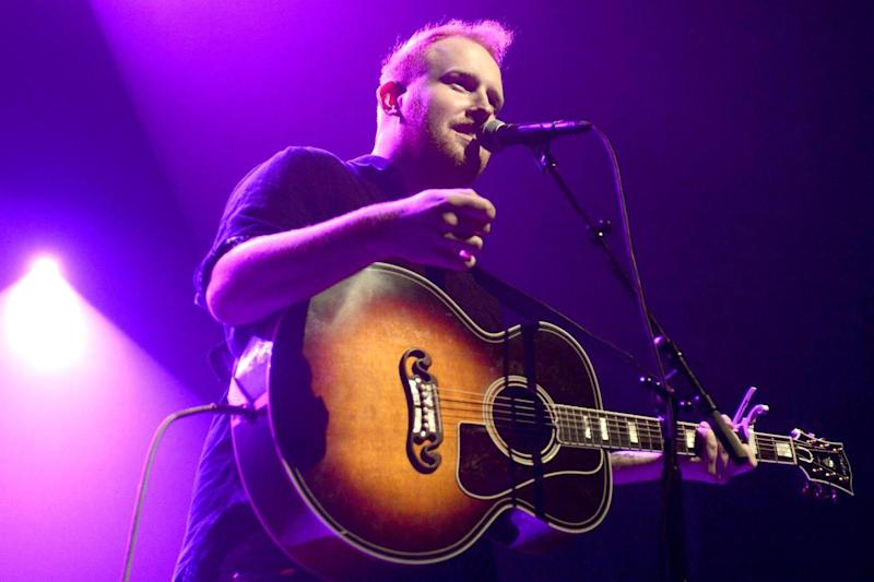 Busking in his success: Gavin James playing in San Francisco: Getty Images