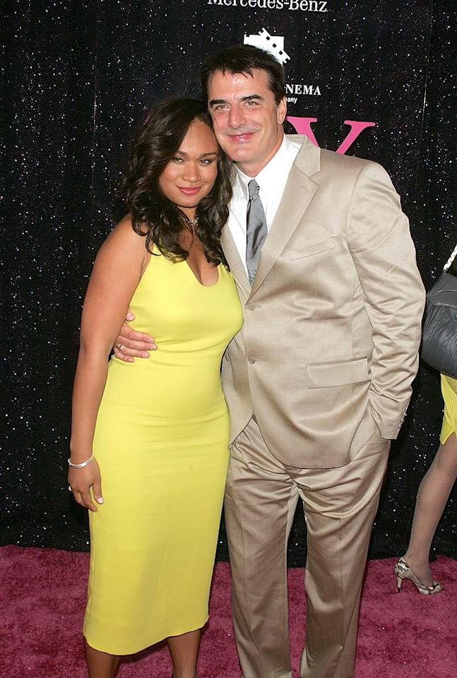 "Mr. Big (Chris Noth) and his real-life girlfriend, Tara, were all smiles upon arriving at the star-studded event. Tara pulled off yellow nicely, while Chris disappointed in a champagne-colored suit. Jim Spellman/<a href=""http://www.wireimage.com"" target=""new"">WireImage.com</a> - May 27, 2008"