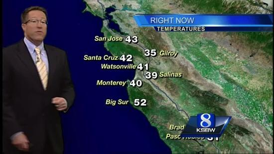 Get Your Friday KSBW Weather Forecast 12 26 14