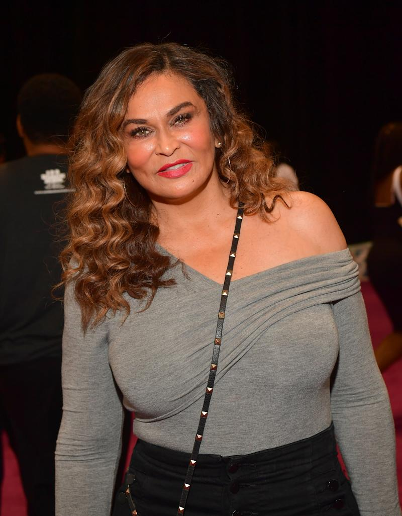 Tina Knowles Lawson talked motherhood, mentoring, and social media with Yahoo Lifestyle at Beautycon in Los Angeles. (Photo by Prince Williams/ Filmmagic)