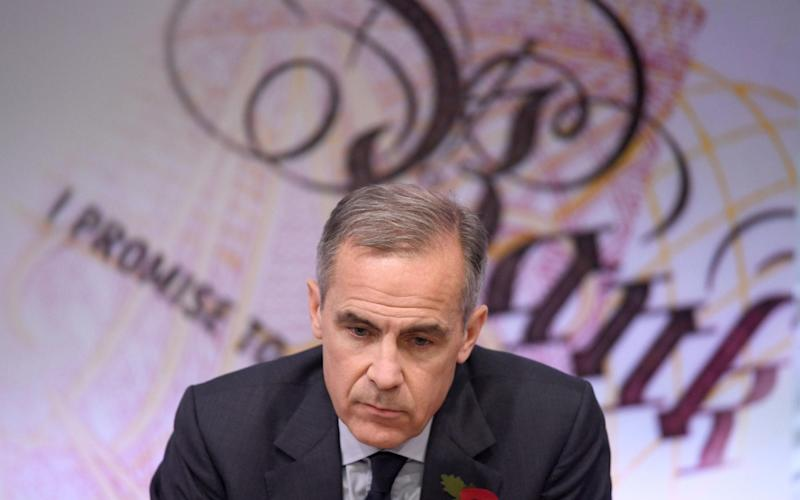 Mark Carney also said that in the event of a bad Brexit deal, the bank would not be able to cut future interest rates - PA