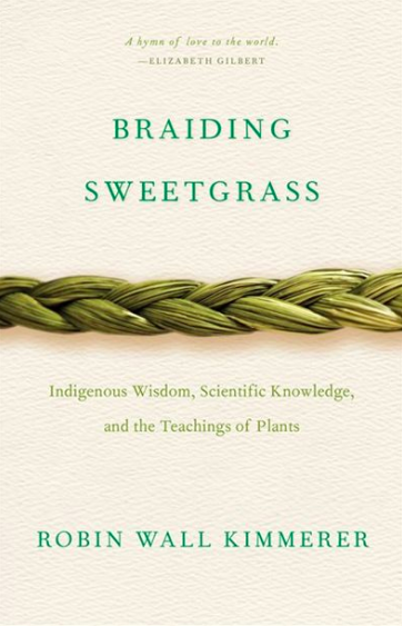 Braiding Sweetgrass by Robin Wall Kimmerer (Photo via Chapters Indigo)