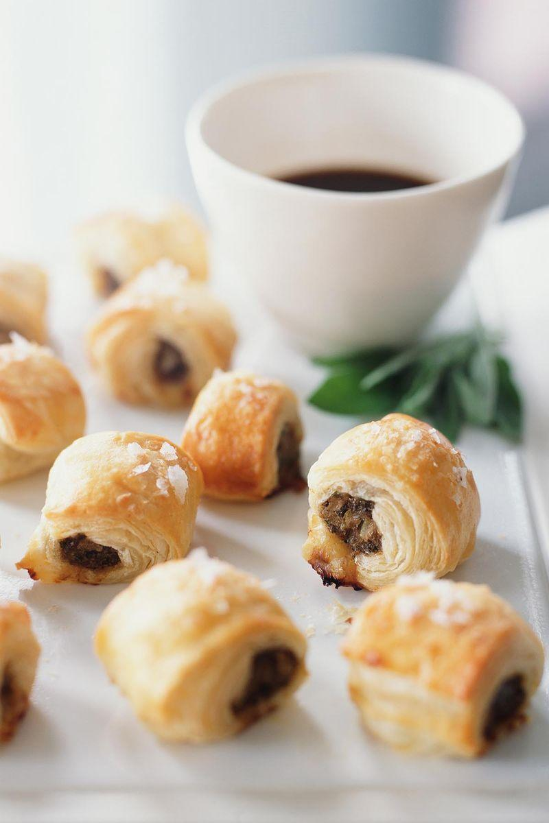 "<p>Nobody can resist a warm sausage roll, and these appetizers can be easily prepared ahead of time, which makes them a must-have.</p><p><a href=""https://www.womansday.com/food-recipes/food-drinks/recipes/a21693/sausage-rolls-worcestershire-sauce/"" rel=""nofollow noopener"" target=""_blank"" data-ylk=""slk:Get the Sausage Rolls with Worcestershire Sauce recipe."" class=""link rapid-noclick-resp""><em>Get the Sausage Rolls with Worcestershire Sauce recipe.</em></a> </p>"