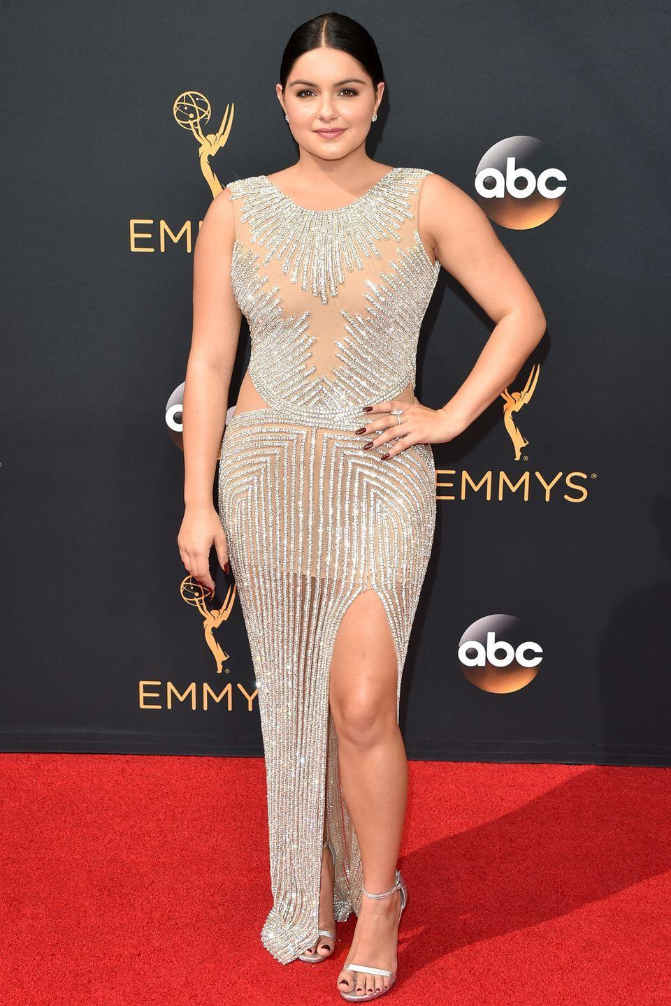 <p>Winter arrived at the 2016 Emmys in this dazzling Yousef Al-Jasmi dress. It was also seen on the likes of Kylie Jenner in a shorter version that same year.</p>