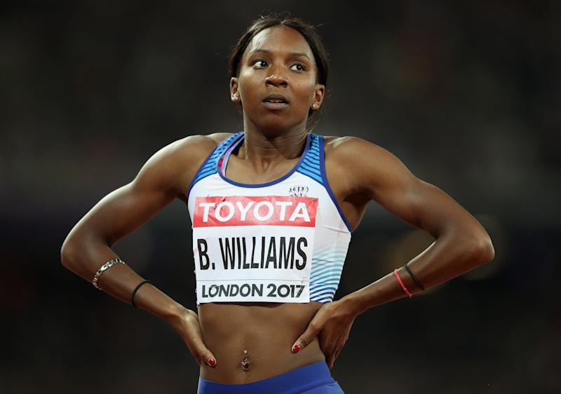"""File photo dated 10/18/17 of Great Britain's Bianca Williams. The Pretenders star Chrissie Hynde has accused the Metropolitan Police of being """"out of touch"""" after a video of a stop and search involving athlete Bianca Williams was posted online."""