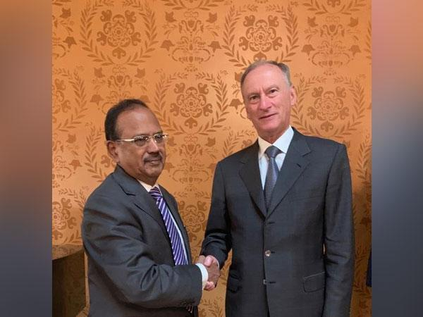 Russian Secretary of the Security Council General Nikolay Patrushev and NSA Ajit Doval