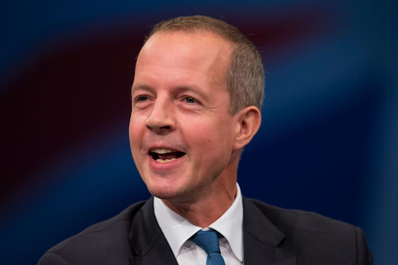 Nick Boles Minister of State for Skills speaks during the Conservative Party Conference, in Manchester, England, Monday Oct. 5, 2015. (AP Photo/Jon Super) (Photo: ASSOCIATED PRESS)