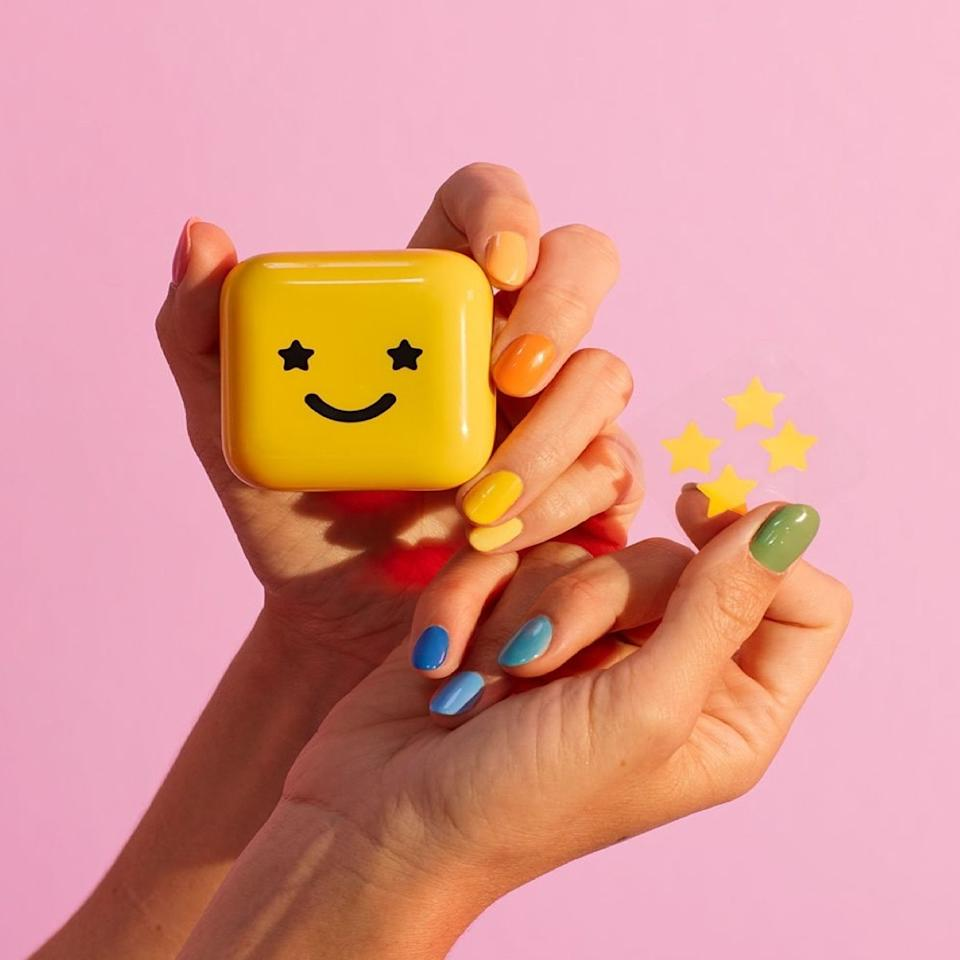 "If you want something on the cuter side, newly launched brand <a href=""https://www.glamour.com/story/starface-pimple-patch-review?mbid=synd_yahoo_rss"">Starface</a> takes the shame out of breakouts with its star-shaped hydrocolloid patches. Even if you don't want to leave the house in them, they're certainly much more fun to look at in the mirror than an angry zit. $22, Starface Hydro-Stars. <a href=""https://starface.world/"">Get it now!</a>"