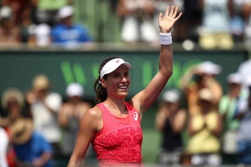 Winner | Johanna Konta became the first British woman to win the Miami Open: Getty Images